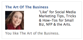 My FB ad