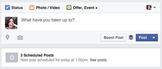 reschedule facebook posts