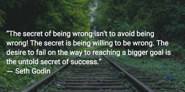 seth godin quote success