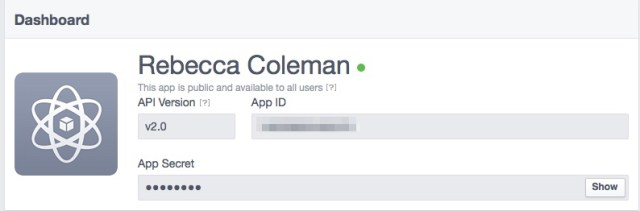app id and app secret in Facebook