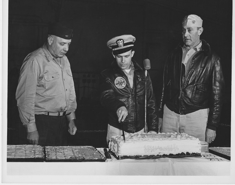 My dad's cake cutting ceremony for the 45,000 landing