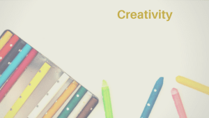 Creativity Header