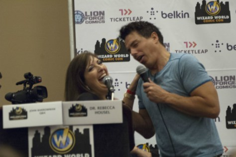 Dr. Rebecca Housel and John Barrowman