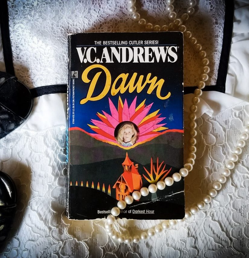 Book flatlay photo of DAWN by V.C. Andrews
