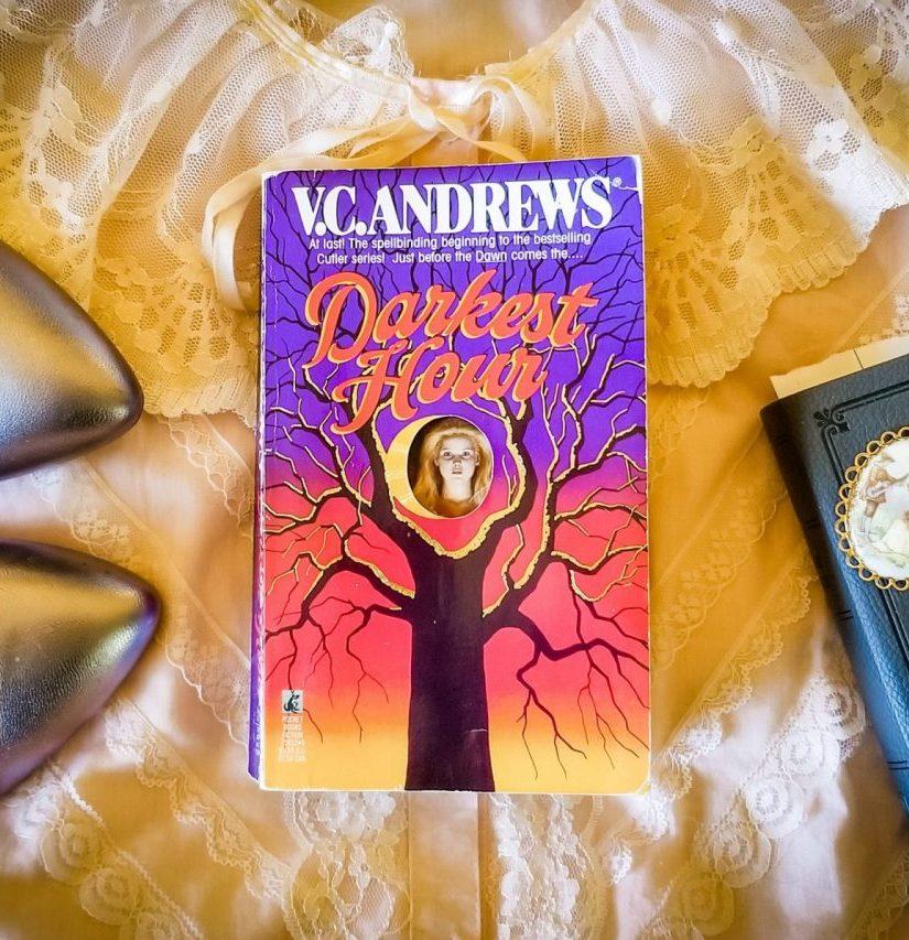 Flatlay book images for DARKEST HOUR by V.C. Andrews
