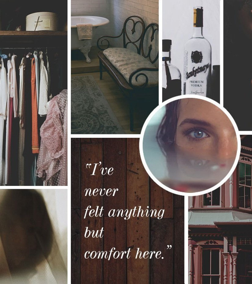 """Moodboard image for the short story, """"The Red House"""" by Rebecca Jones-Howe"""