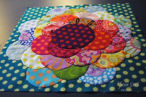 block of the month ~ dahlia quilt block