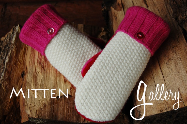 Mittens from felted wool sweaters