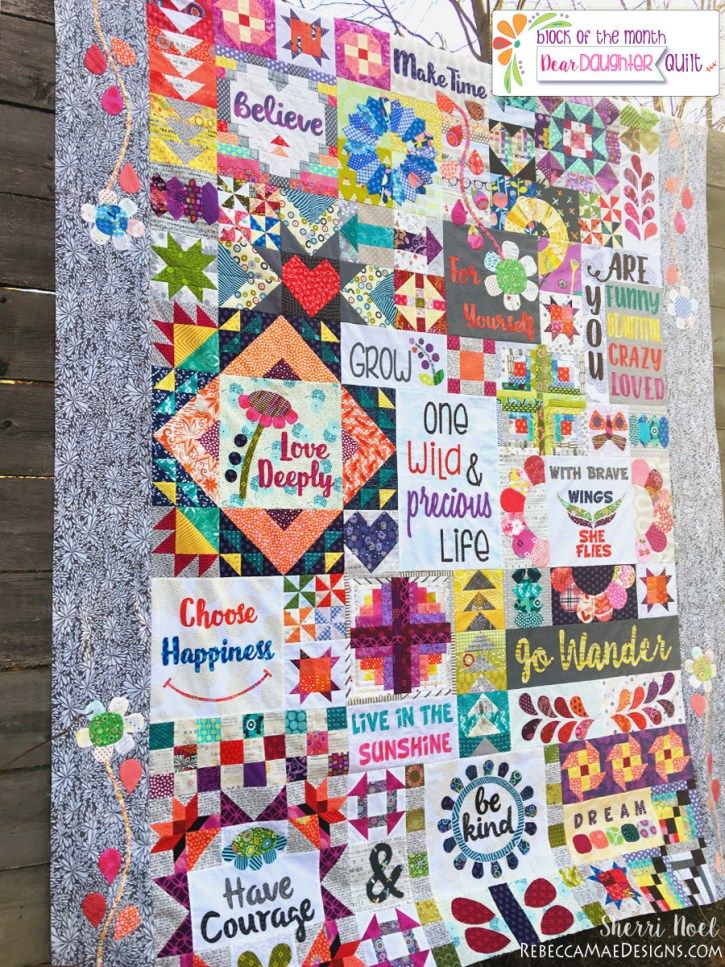 block of the month Dear Daughter Quilt