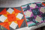 modern quilt block of the month in tula pink fabric
