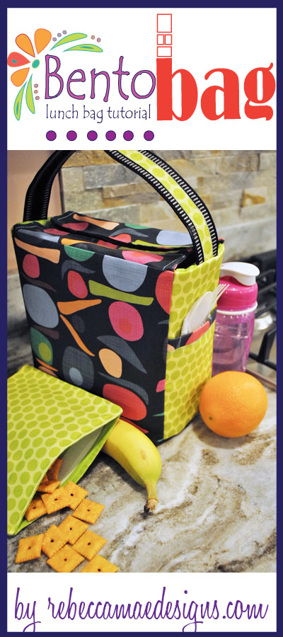 Bento Bag - a lunch bag sewing tutorial from rebeccamaedesigns