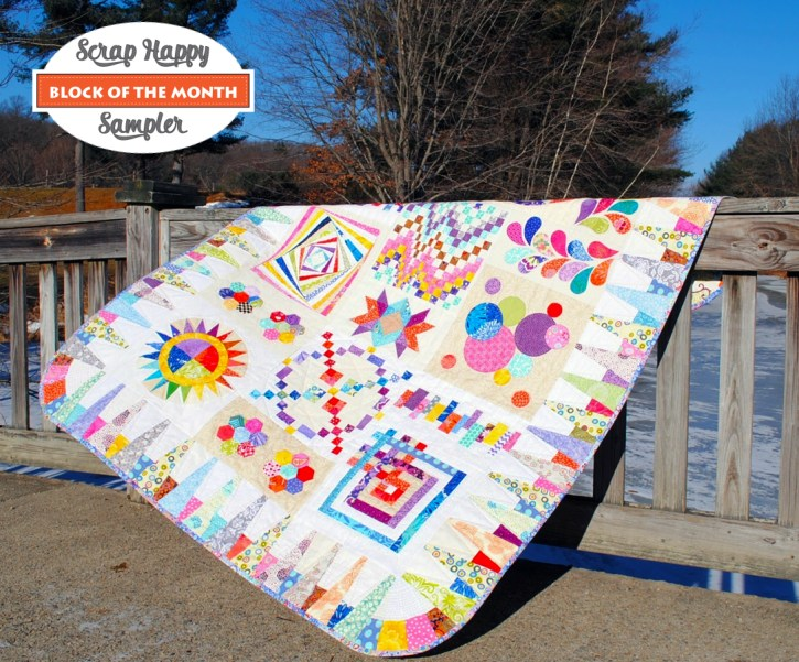 SCRAP HAPPY SAMPLER QUILT PATTERN