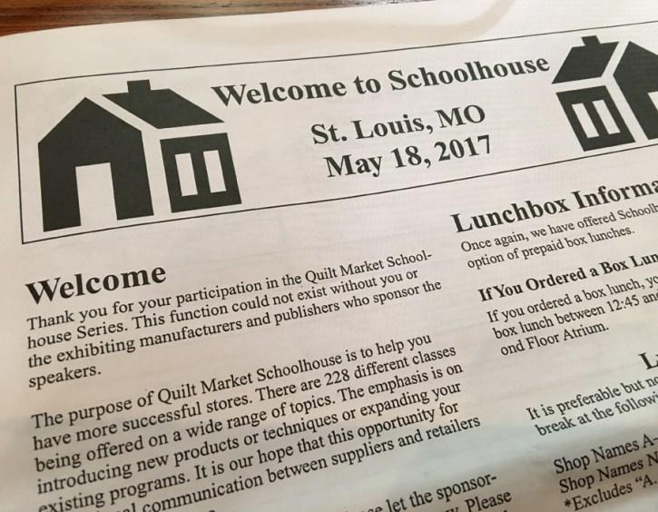 Schoolhouse Spring Quilt Market 2017