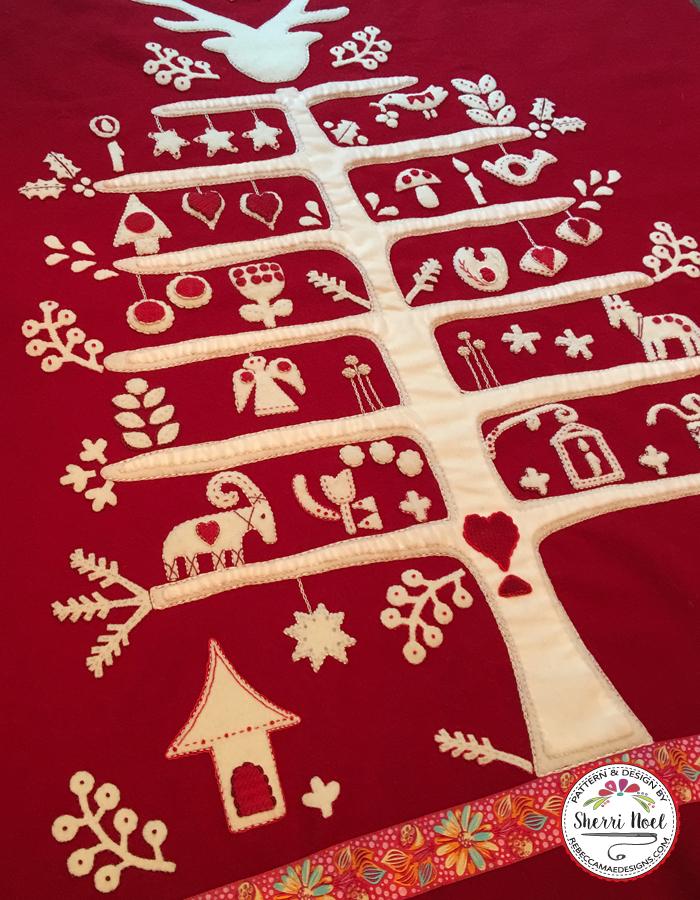 Jul i Scandinavian wool applique quilt