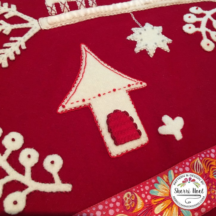 Jul i Scandinavian wool applique quilt