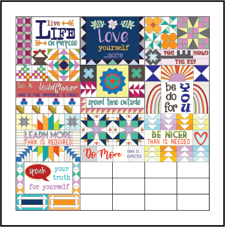 Dear Diary block of the month quilt by Sherri Noel,