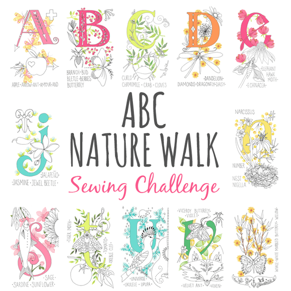 nature walk sewing challenge