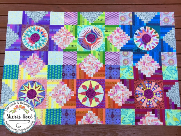 log cabin block of the month quilt