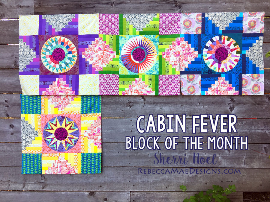 Cabin Fever Block of the Month Quilt Pattern Rebeccamaedesigns.com