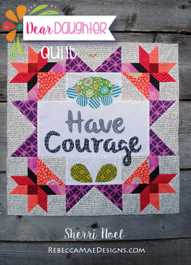 dear daughter text quilt