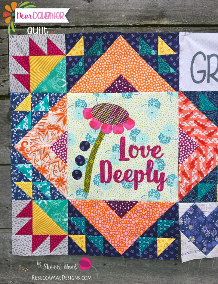 dear daughter block of the month quilt pattern