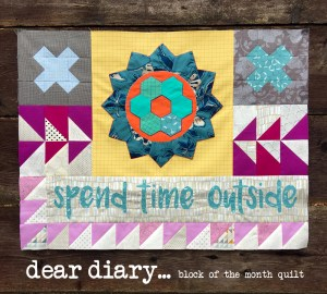Dear Diary block of the month quilt by Sherri Noel, RebeccaMaeDesigns.com
