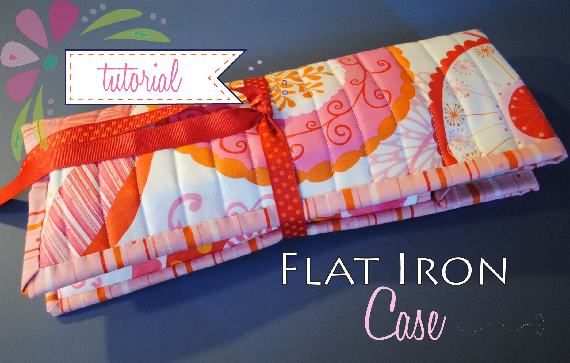 sewing tutorial flat iron case