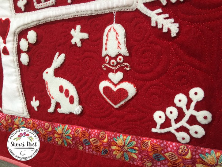 scandinavian applique Christmas tree pattern