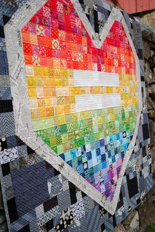 love wins quilt pattern by rebeccamaedesigns