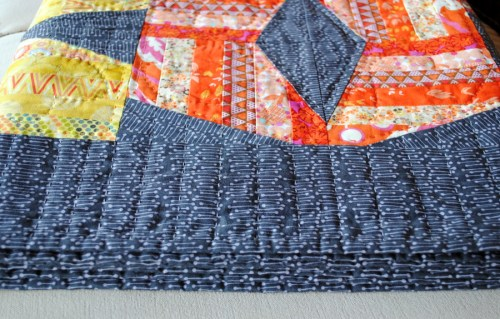 big stitch hand quilting with perle cotton 8