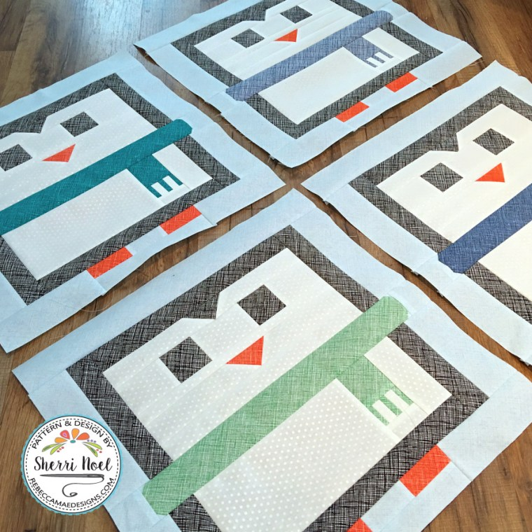 Penguin Quilt Pattern by Sherri Noel, Rebecca Mae Designs