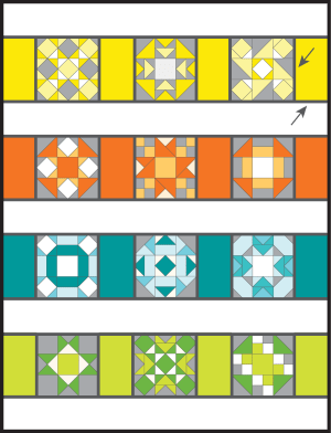 quilt as you go sashing tutorial