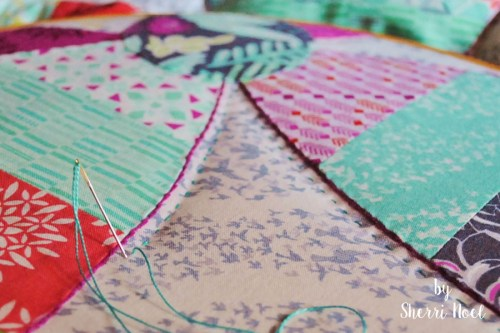 big stitch hand quilting