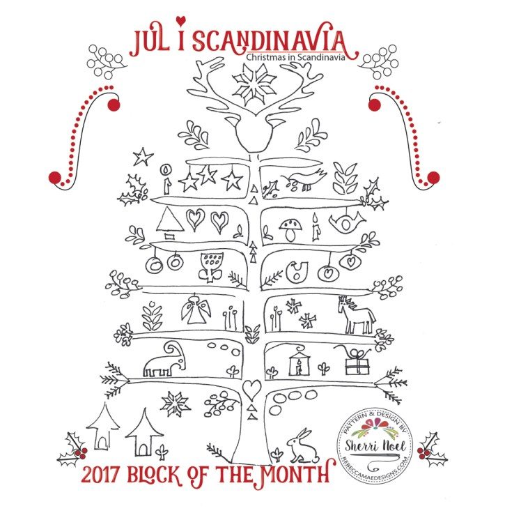 Jul i Scandinavia block of the month quilt pattern
