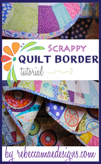 Tutorial ~ how to make a scrappy quilt border with wedges