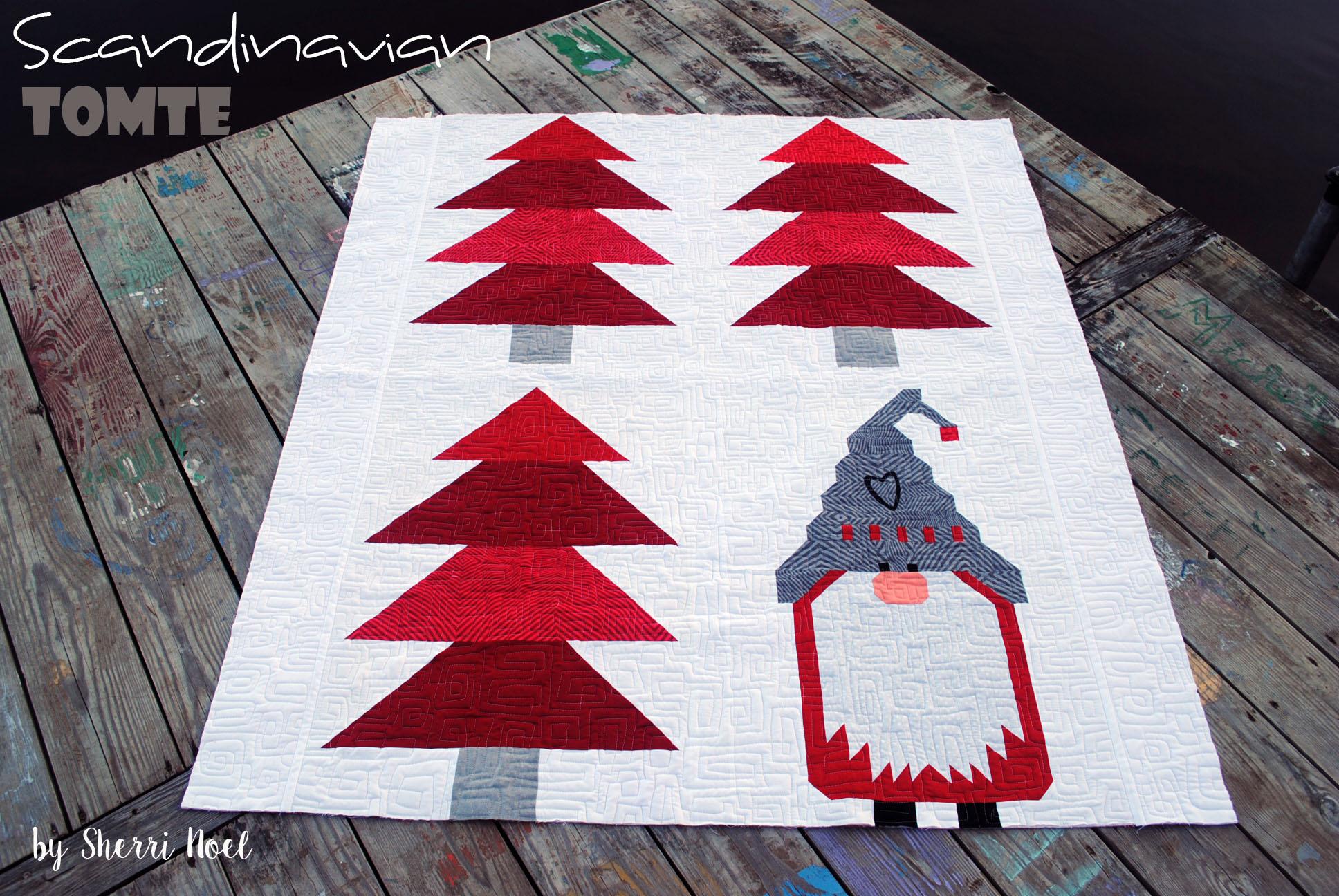 Christmas Quilt Pattern Scandinavian Tomte Rebecca Mae Designs