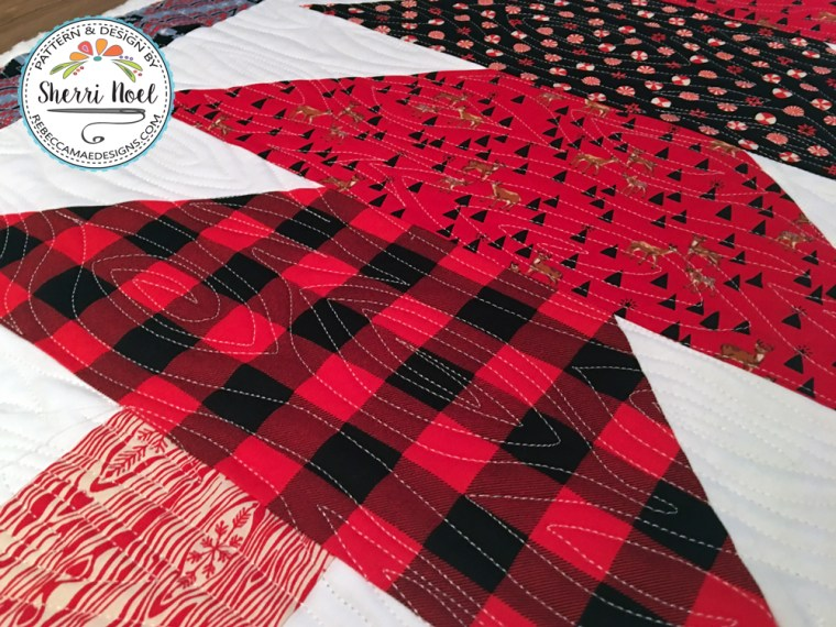 Scandinavian tomte in holiday homies fabric by tula pink. Pattern by Sherri Noel ~ Rebecca Mae Designs
