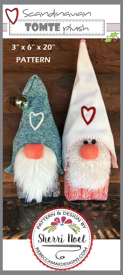Tomte Plush Gnome Pattern by Sherri Noel for Rebecca Mae Designs