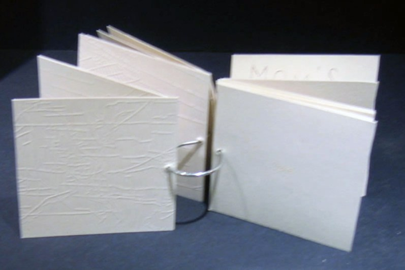 Geographic Geneology handmade book of etching embossments 4 x 4 2007