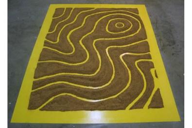 Topographic Landscape, enamel, sand, 2008