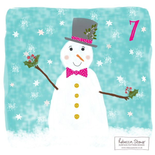 Illustrated Advent Day 7 by Rebecca Stoner