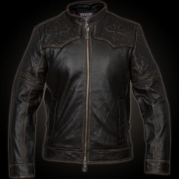 Affliction Breaking Free Leather Jacket. Biker
