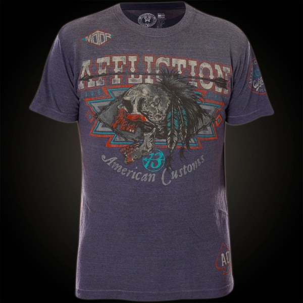 Affliction Falcon Warrior T-shirt With Ornamented