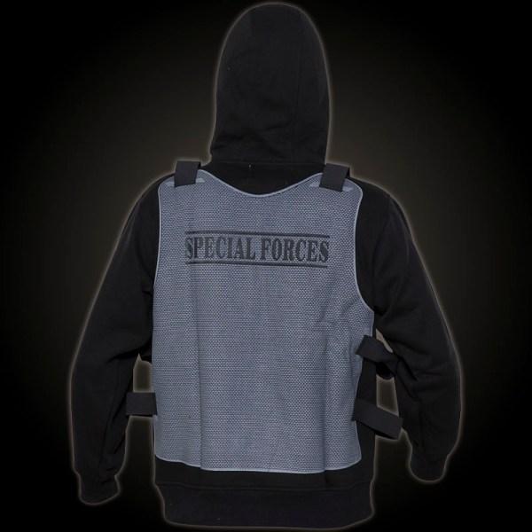 Gorilla Unit Vest Special Forces Hoody - Black Hooded