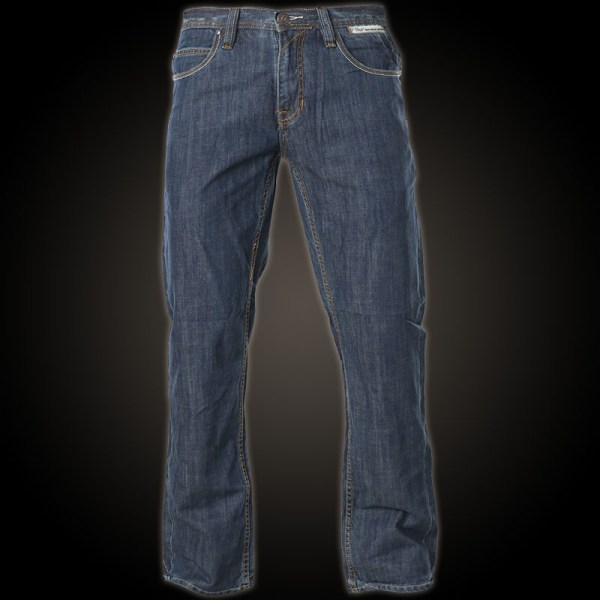 Unit Jeans Outline Script With Decorative Embroidering
