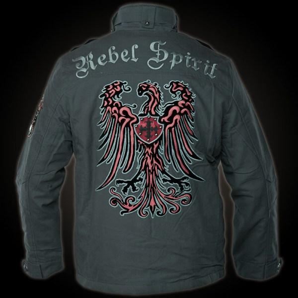 Rebel Spirit Jacket Mjk131651 In Grey - With
