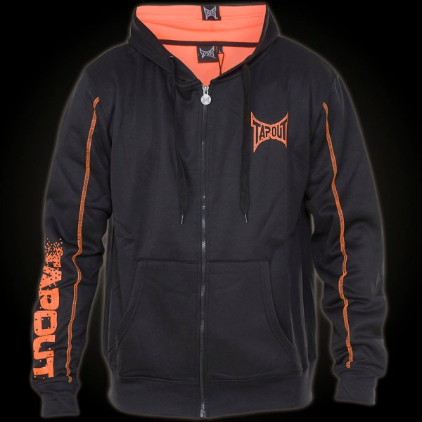 Tapout Digital Logo Hoody - Black With Prints And