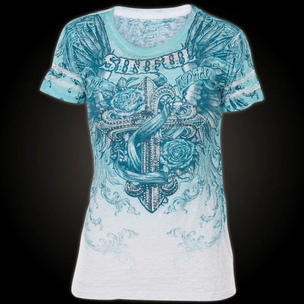Sinful -neck T-shirt Cocomo - Shirt With Highly Detailed