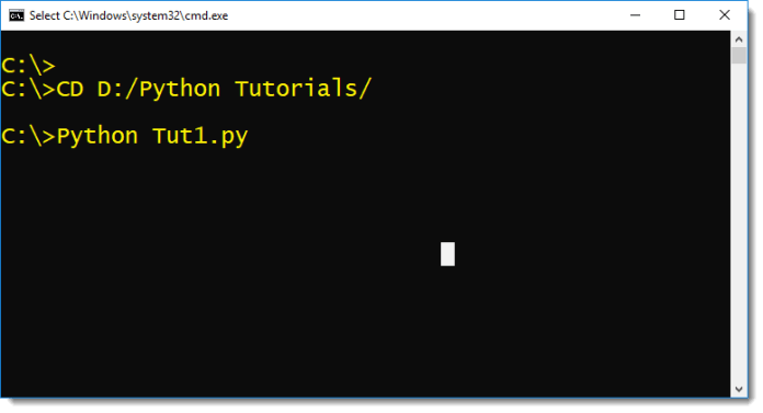 How To Execute Python Scripts In Command Prompt by manish sharma