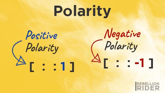 Polarity of Python Slice Operator